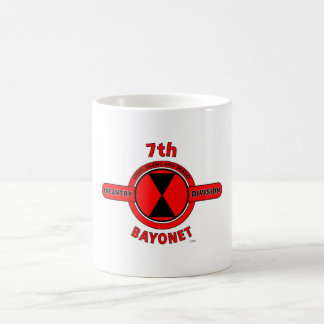 "7TH INFANTRY DIVISION ""BAYONET DIVISION"" CLASSIC WHITE COFFEE MUG"