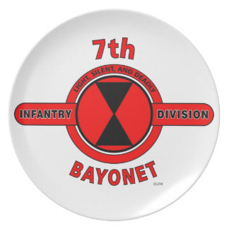 7TH INFANTRY DIVISION BAYONET DIVISION DINNER PLATE