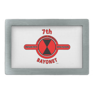 "7TH INFANTRY DIVISION ""BAYONET DIVISION"" RECTANGULAR BELT BUCKLES"