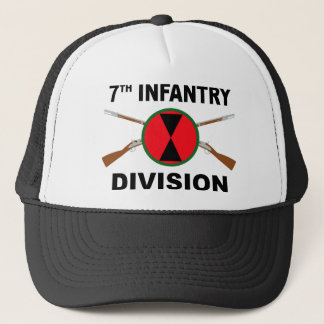 7th Infantry Division - Crossed Rifles Trucker Hat