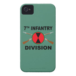 7th Infantry Division - Crossed Rifles - With Text iPhone 4 Case