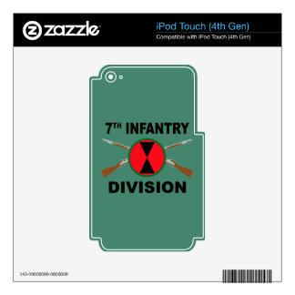 7th Infantry Division - Crossed Rifles - With Text iPod Touch 4G Skin
