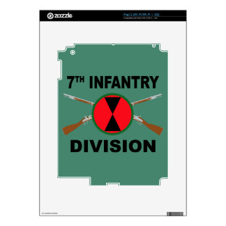 7th Infantry Division - Crossed Rifles - With Text Skins For iPad 2