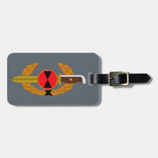 7th Infantry Division - Order of the Bayonet Bag Tag