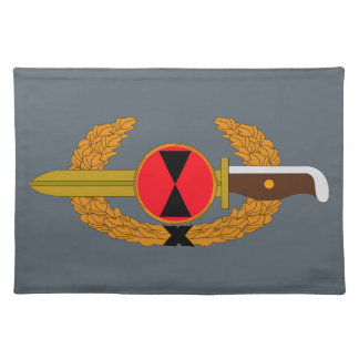 7th Infantry Division - Order of the Bayonet Cloth Placemat