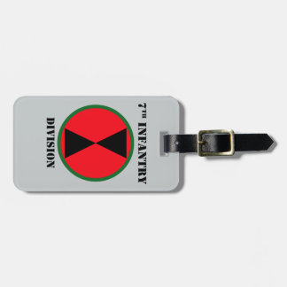 7th Infantry Division With Text Luggage Tag