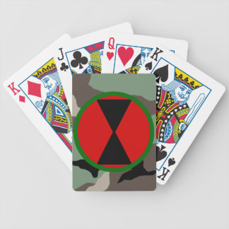 7th Infantry Division Woodland Camo Playing Cards