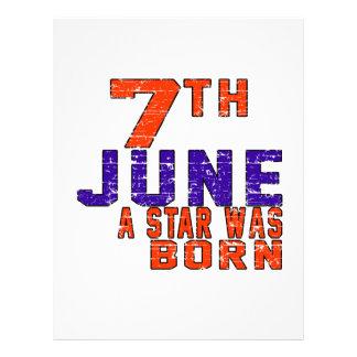 7th June a star was born Letterhead Template