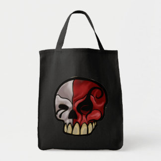 7th layer skull logo canvas bags