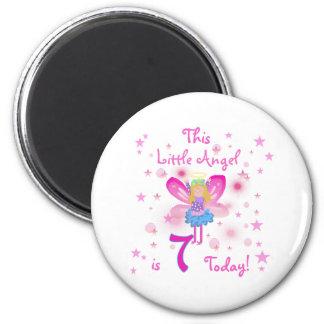 7th Little Angel Birthday Refrigerator Magnet