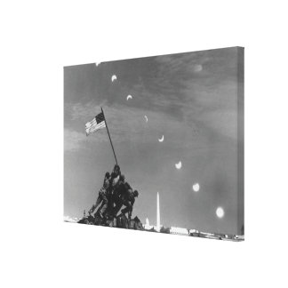 7th March 1970:  Ten separate exposures Stretched Canvas Print