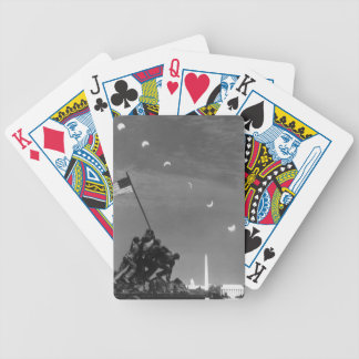 7th March 1970:  Ten separate exposures Bicycle Playing Cards