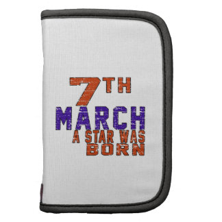 7th March a star was born Folio Planners