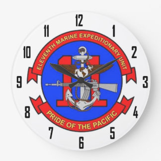 7th MARINE EXPEDITIONARY UNIT Large Clock