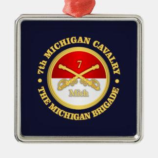7th Michigan Cavalry (rd) Metal Ornament