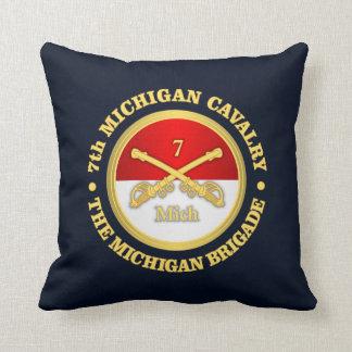 7th Michigan Cavalry (rd) Throw Pillow