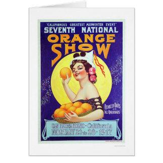 7th National Orange Show 1917 Card