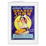7th National Orange Show 1917 Greeting Cards