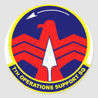 7th Operations Support Sq Classic Round Sticker