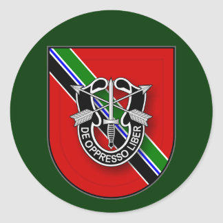 7th SFG(A) - Service in Afghanistan UA Round Sticker