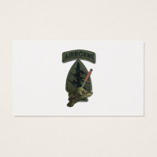 7th special forces green berets sf sof sfg recon business card