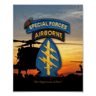 7th special forces green berets sfg sf poster