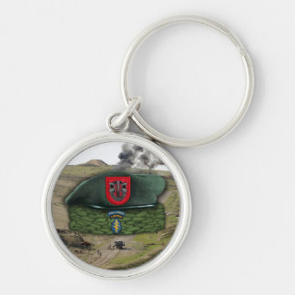 7th special forces green berets veterans Keychain