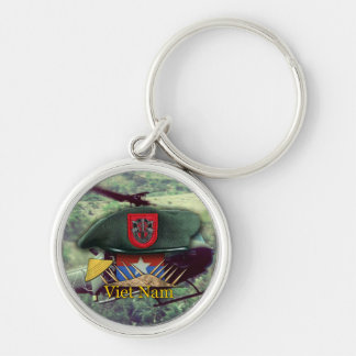7th special forces green berets vietnam Keychain