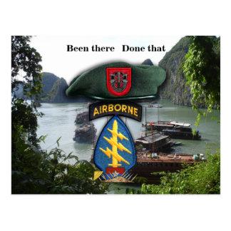 7th special forces green berets vietnam nam war postcard