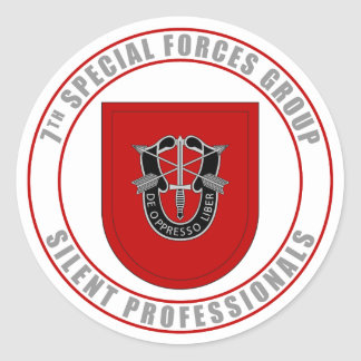 7th Special Forces Group Classic Round Sticker