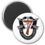 7th Special Forces Group Crest 2 Inch Round Magnet