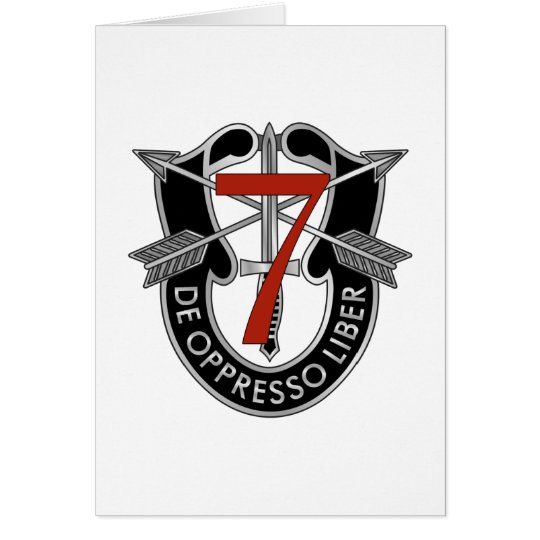 7th Special Forces Group Crest Card