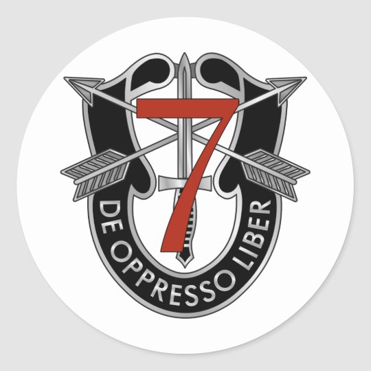 7th Special Forces Group Crest Classic Round Sticker