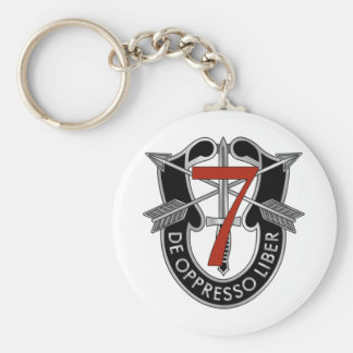 7th Special Forces Group Crest Basic Round Button Keychain