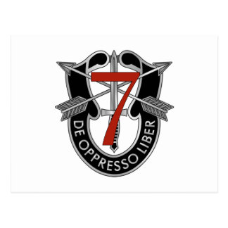 7th Special Forces Group Crest Postcard