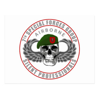7th Special Forces Group - Skull Postcard