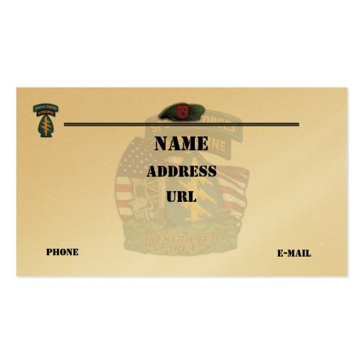 7th special forces patch flash business Card