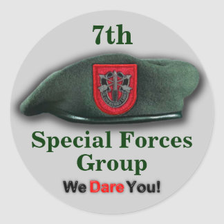 7th Special forces veterans vets flash Sticker