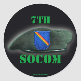 7th Special ops command socom beret flash Sticker