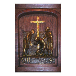 7th Station of the Cross Poster