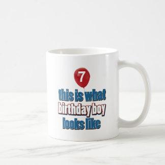 7th year birthday designs coffee mug
