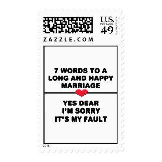 7WordsToALongMarriageblackplump Stamp