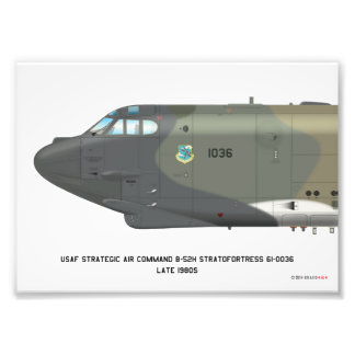 7x5 B-52H Strategic Air Command Late SIOP Print Photo Print