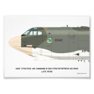 7x5 B-52H Strategic Air Command SIOP Scheme Print Photo Print