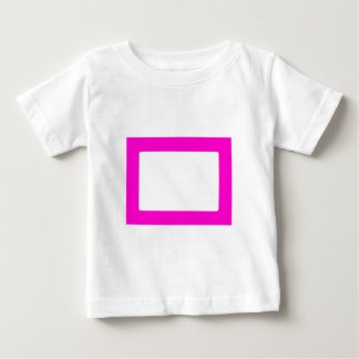 7X5 Card with Round Inside Conors Transp Magenta Baby T-Shirt