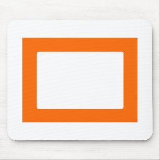 7X5 Card with Round Inside Conors Transp Orange Mouse Pad