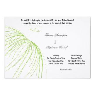 7x5 Electric Green Dress Wedding Invitation
