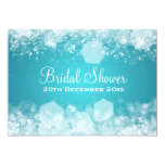 7x5 Sparkling Night Blue Elegant Bridal Shower Card