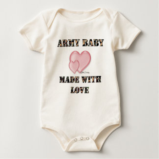 7x7 Army Baby Made with Love by Dani Baby Bodysuit