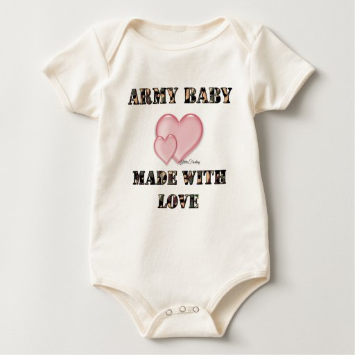 7x7 Army Baby Made with Love by Dani Baby Creeper